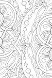 Libro de colorear adulto, página una imagen de fondo abstracta floral para imagen de archivo libre de regalías