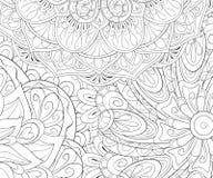 Libro de colorear adulto, página una imagen de fondo abstracta floral para fotos de archivo libres de regalías