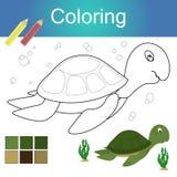 Libro de colorear con el ejemplo animal del vector de la página de las ilustraciones del esquema ilustración del vector