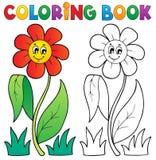 Libro de colorear con el tema 3 de la flor libre illustration