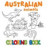Libro de colorear con los animales salvajes ilustración del vector