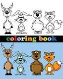 Libro de colorear de animales Imagen de archivo libre de regalías