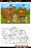 Libro de colorear de la historieta de los animales de los roedores Fotografía de archivo