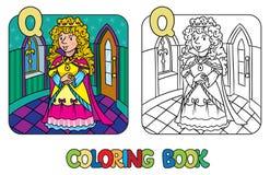 Libro de colorear de la reina o de la princesa de hadas de la belleza ilustración del vector
