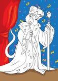 Libro de colorear de rey From Tale Nutcracker del ratón Foto de archivo