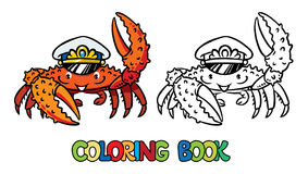 Libro de colorear del cangrejo libre illustration