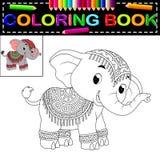 Libro de colorear del elefante libre illustration