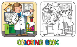 Libro de colorear del ingeniero Serie de ABC de la profesión Imagen de archivo