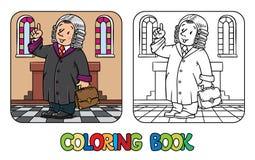Libro de colorear del juez divertido Foto de archivo