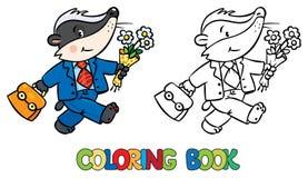 Libro de colorear del pequeño tejón divertido libre illustration