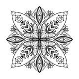 Libro de colorear del vector para el adulto La página cuadrada para se relaja y meditación ilustración del vector