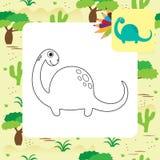 Libro de colorear lindo de Dino de la historieta Imagenes de archivo