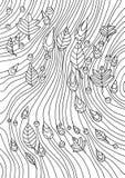 Libro de colorear para los adultos Un modelo abstracto de la lluvia y del otoño stock de ilustración