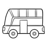 Libro de colorear para los niños, autobús Fotografía de archivo