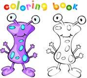 Libro de colorear púrpura del monstruo Fotografía de archivo libre de regalías