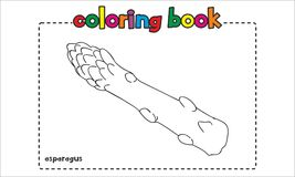 Libro de colorear simple del espárrago para los niños y los niños Imagen de archivo