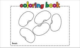 Libro de colorear simple de la haba para los niños y los niños Foto de archivo libre de regalías