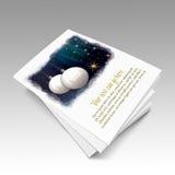 Libro de cuadro de las bolas de la Navidad Foto de archivo libre de regalías