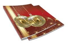 libro de cuadro de las bolas de la Navidad 3D Foto de archivo libre de regalías