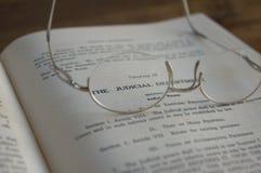 Libro de derecho judicial Imágenes de archivo libres de regalías