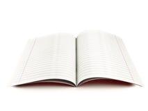 Libro de ejercicio Foto de archivo libre de regalías