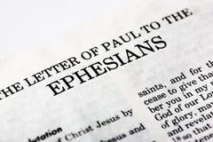 Libro de Ephesians Fotos de archivo libres de regalías