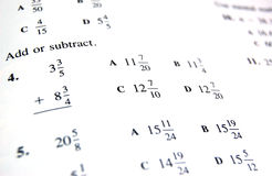 Libro de escuela de la matemáticas Imágenes de archivo libres de regalías