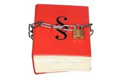 Libro de estatuto protegido fotografía de archivo libre de regalías