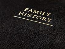 Libro de historia de cuero de la familia Imagen de archivo libre de regalías
