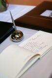 Libro de huésped de la boda Fotos de archivo libres de regalías