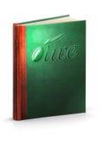 Libro de la aceituna - trayectoria de recortes Foto de archivo