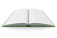 Libro de la apertura en el fondo blanco Fotografía de archivo libre de regalías
