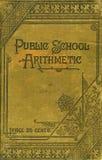 Libro de la aritmética de la escuela pública Foto de archivo libre de regalías