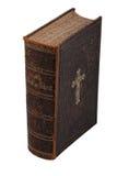 Libro de la biblia de la vendimia en blanco Fotografía de archivo