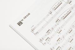 Libro de la canción Imagen de archivo libre de regalías