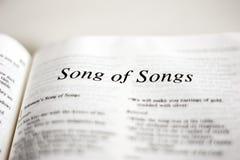 Libro de la canción de canciones Imágenes de archivo libres de regalías