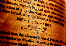 Libro de la ciencia Foto de archivo