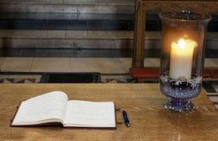 Libro de la condolencia Fotografía de archivo libre de regalías