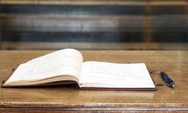 Libro de la condolencia imágenes de archivo libres de regalías
