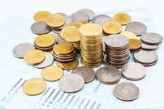Libro de la cuenta bancaria Imagen de archivo libre de regalías
