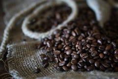 Libro de la cuerda del grano de café Fotos de archivo