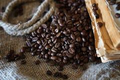 Libro de la cuerda del grano de café Fotografía de archivo