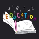 Libro de la educación Ilustración del Vector
