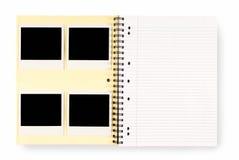Libro de la escritura Foto de archivo libre de regalías