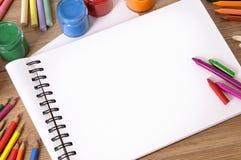 Libro de la escritura de la escuela Fotografía de archivo libre de regalías