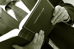 Libro de la explotación agrícola del abogado Fotografía de archivo libre de regalías