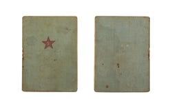 Libro de la identificación del ` s del soldado de ejército rojo Imagen de archivo