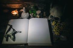 Libro de la magia foto de archivo