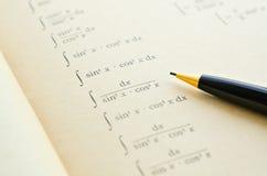 Libro de la matemáticas Fotografía de archivo libre de regalías