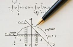 Libro de la matemáticas Imagen de archivo libre de regalías